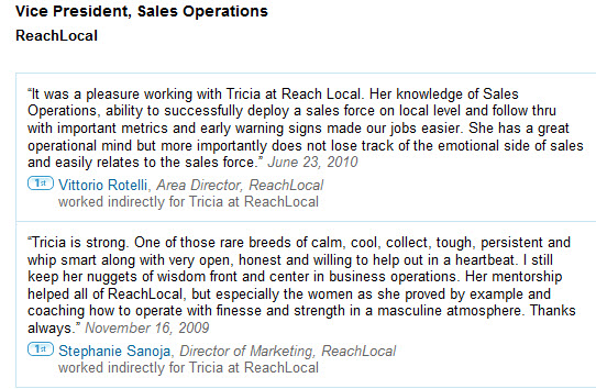 ReachLocal recommendations